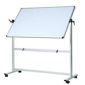 Second Hand Final Sale Mobile Reversible Magnetic boardOne side whiteboard 48W X 36H 190303