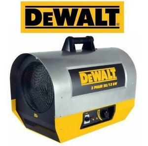 NEW DEWALT FORCED AIR ELEC HEATER DXH2003TS 237074426 TOOL JOB SITE Electric 3 Phase / 20 kW Hi / 13 kW Low HARDWIRED