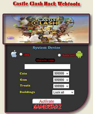 Online Castle Clash Hack Cheats Unlimited Gold Gems-Android iOS