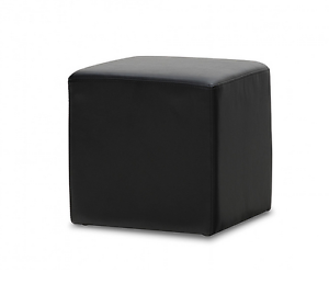 Black leather look alike foot rest or chair Hope Island Gold Coast North Preview
