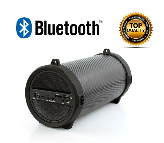 Axess Bluetooth Portable Speaker Wireless Bass Stereo Black PC Tablet Rechargeable