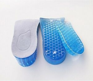 Honeycomb Gel Heel Lifts Height Increase Insoles Shoe Inserts Pads Raise Hi-Q UK