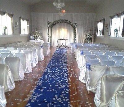 Satin Aisle Runner 100 ft Long 5ft wide - Wedding, Red Carpet Events - Seamless (Red Carpet Event Dekorationen)