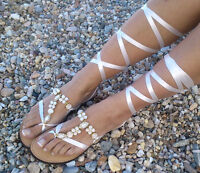 leather sandals,Bridal sandals,leather sandals with strass, lace
