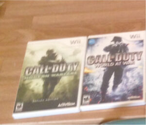 Call of duty wii games
