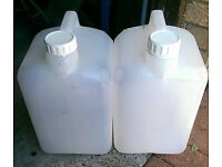 15 Litre oil containers, H20, beer, food, carryer, storage, fuel petrol diesel, home brew, (3 left)