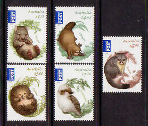 AUSTRALIA 2013 BUSH BABIES SET OF 5 UNMOUNTED MINT, MNH.
