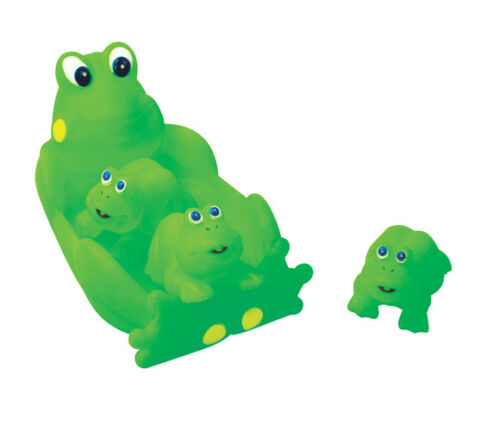Floating Bath Tub Toy Playmaker Toys Rubber Frog Family Bathtub Pals Set of 4