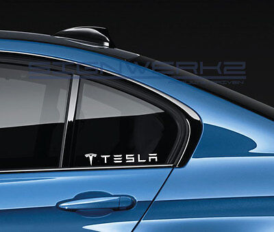 Tesla Sticker Decal Tsla Electric P90d Model X Model S Model 3 Usa Tuning Pair