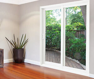 72in x 80in White Righthand Assembled Vinyl Sliding Patio Door