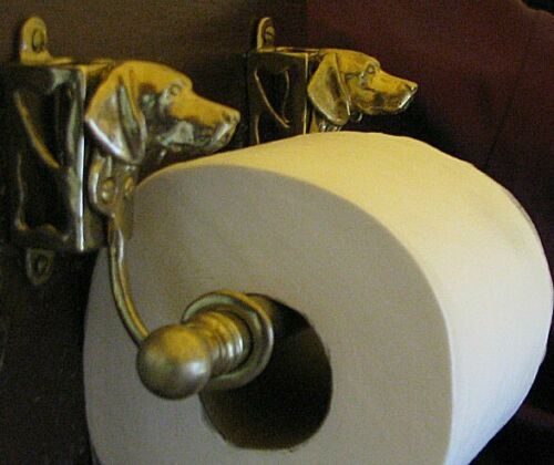 GERMAN SHORTHAIRED POINTER Bronze Toilet Paper Holder OR Paper Towel Holder!