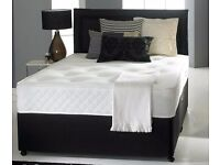 "FREE DELIVERY!! Kingsize Divan Bed With 10"" Ambassador Full Orthopaedic Mattress"