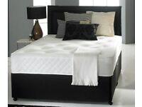 💍☂️STRONG & STURDY💍☂️☂️ DOUBLE DIVAN BED + DEEP QUILT MATTRESS & HEADBOARD /DRAWERS OPTION