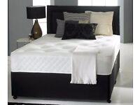 BEST SELLER BRAND New 4ft6/4ft / 5ft Divan Bed w 13 inch 1000 Pocket sprung Mattress