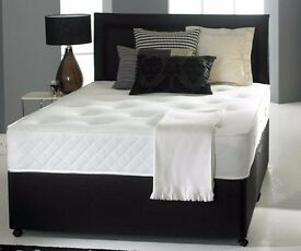 "❤❤CHEAPEST OFFER❤❤ Double/Small Double/King Divan Bed With 10"" AMBASSADOR FULL ORTHOPAEDIC Mattress"