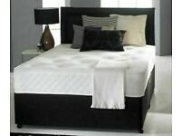 🔵💖🔴50% SALE OFF NEW🔵💖🔴DIVAN SINGLE-DOUBLE-SMALL DOUBLE & KING SIZE BED BASE w MATTRESSES🔋