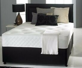 EXCLUSIVE OFFER BRAND NEW DOUBLE DIVAN BED BASE WITH MATTRESS AVAILABLE IN DIFFERENT COLOURS