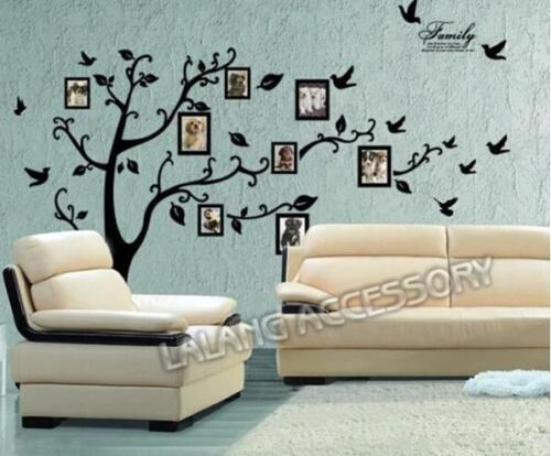 Home Decoration - Home Decoration Wall Sticker Black Bedroom Family Living Room Removable DMF
