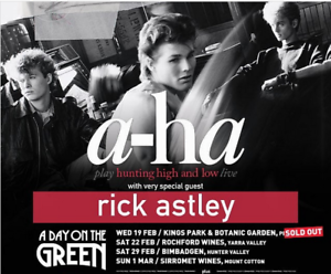 4 * A-HA TICKETS FOR SOLD OUT DAY ON THE GREEN CONCERT
