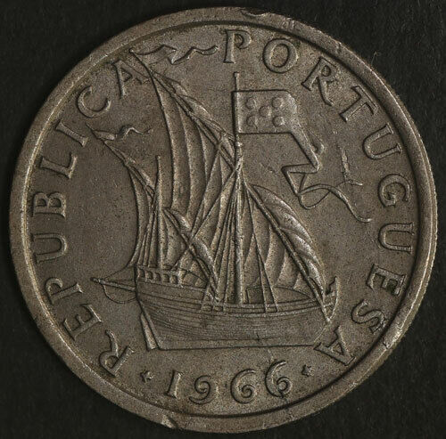 1966 - Portugal 5 Escudos KM 591  Great Deals From The Executive Coin Company