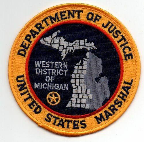 MICHIGAN MI UNITED STATES MARSHAL WESTERN DISTRICT NICE PATCH SHERIFF