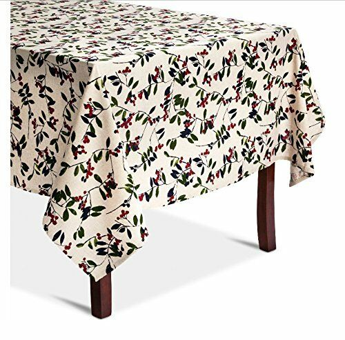 Threshold Oblong Tablecloth Winter Berry Christmas Holiday *