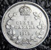 1919 Canada 5 Cents