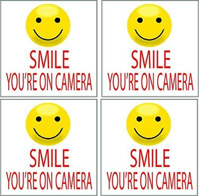 4 Smile Youre On Camera Security Video Camera Surveillance Sign Sticker 5x5