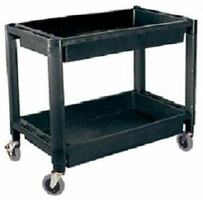 Atd Tools Atd-7016 2-shelf Heavy-duty Plastic Utility Cart
