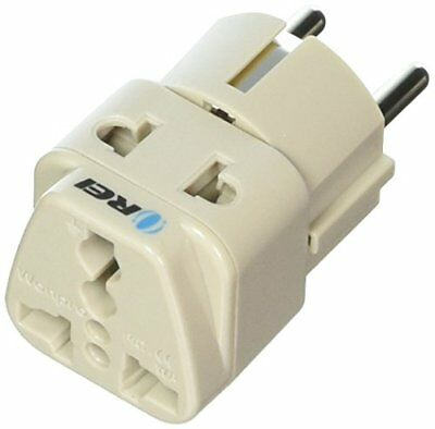 OREI WP-EF-GN Wonpro Grounded Universal 2-in-1 Schuko Plug Adapter Type E/F