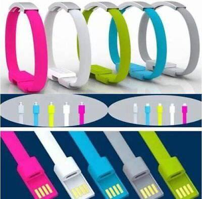 Type-C USB 2.0 Cable Bracelet Wristband Charger Fast Charging Data Sync Cord Hot