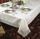 Lace Solid Round Tablecloths