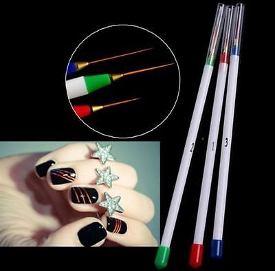 Korean Manicure Nail Art Dotting Drawing Pen Painting Tool Striping Brush Design for sale  Shipping to Canada