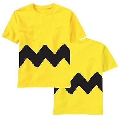 Original Peanuts Charlie Brown Kostüm Cosplay T-Shirt Herren S-3Xl
