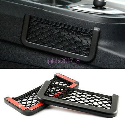 $1.25 - Multifunctional Storage Tuck Net String Bag Phone Holder Ticket Pocket For BMW