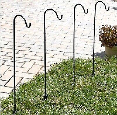10 - Handmade Metal wrought Steel iron Garden Shepherd Hooks plant hanger