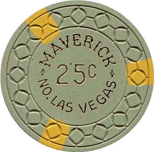 Maverick Casino, Las Vegas $.25 Casino Chip MINT Condition Rarity
