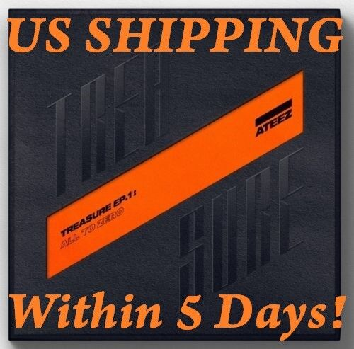 Us Shipping Ateez[treasure Ep.1:all To Zero]1st Album Cd+poster/on+book+card+etc
