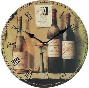 orologio da parete per cucina e locali serigrafia bottiglie di ... - Orologio Da Parete Per Cucina