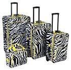 Zebra Print Suitcases