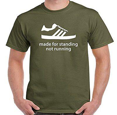 Gemacht für Stehend Nicht Running Herren Lustiges T-Shirt Terrassen Fußball