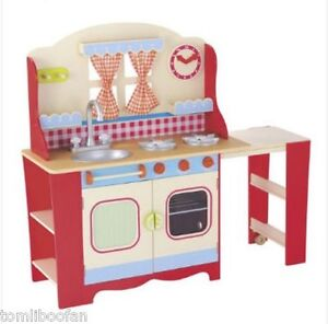 ELC Wooden Cottage Kitchen Red RRP 150 Brand New
