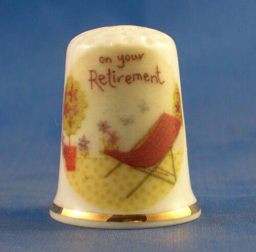 Birchcroft China Thimble -- Retirement  -- Free Dome Gift Box