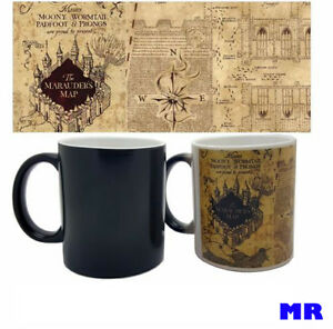 Harry Potter Marauder's Map Color Changing Magic black heat sensitive Coffee Mug