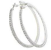 Womens Silver Hoop Earrings