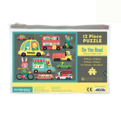 Mudpuppy  puzzle - On the road 2+ - Number of pieces 12