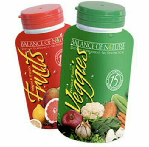 Balance of Nature Whole Food Fruits and Veggies 90 Capsules Each - NEW Exp 12/22