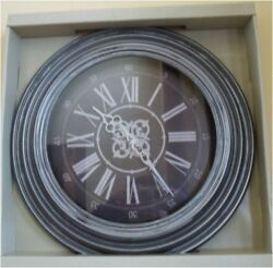 18-Inch Contemporary Wall Clock Skytimer Battery Powered Distress Hallway