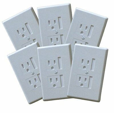 6-Pack Safety Innovations Self-closing (1Screw) Standard Outlet Covers - An