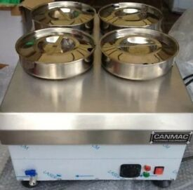 Bain Marie CanMac CMBM4 Electric Wet Heat-Stainless Steel Pots